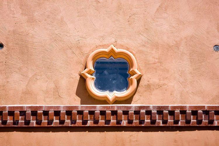 Window Adobe Wall Window Architecture Built Structure Day No People Building Exterior Outdoors High Angle View Sunlight Travel Travel Destinations Wall - Building Feature Pattern Blue Geometric Shape Shape