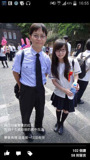 看看以前的照片 現在真的胖了,才一年多我怎麼變腫泡泡了╮(╯▽╰)╭ That's Me 眼鏡 Student Uniform