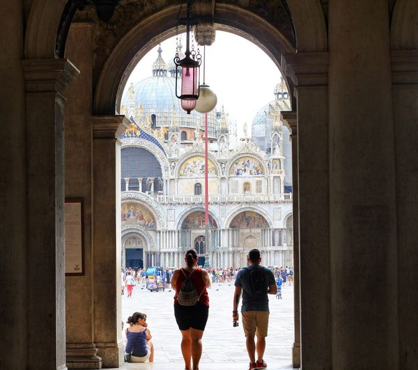 Arch Architecture Tourism Travel Destinations Architectural Column Real People Dome Vacations Religion Place Of Worship Indoors  Men Built Structure Day Adult People Adults Only Venice, Italy Venezia Connected By Travel