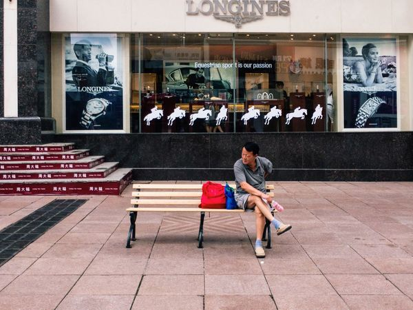 Dalian, Liaoning, China 2017 MelbournePhotographer IPhoneography Streetphotography Mobilephotography Adobelightroommobile Vscocam Two People Full Length Togetherness Sitting Mid Adult Mid Adult Women Young Adult Day Casual Clothing Smiling Young Women Young Men Enjoyment Leisure Activity Real People Happiness Bonding Lifestyles Women Men