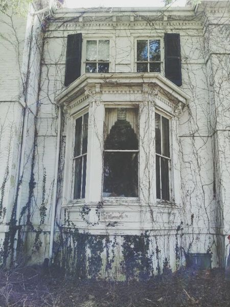 Old House Abandoned Creepy House Climbing Vines Vines On Walls In The Window Ghostly Check This Out