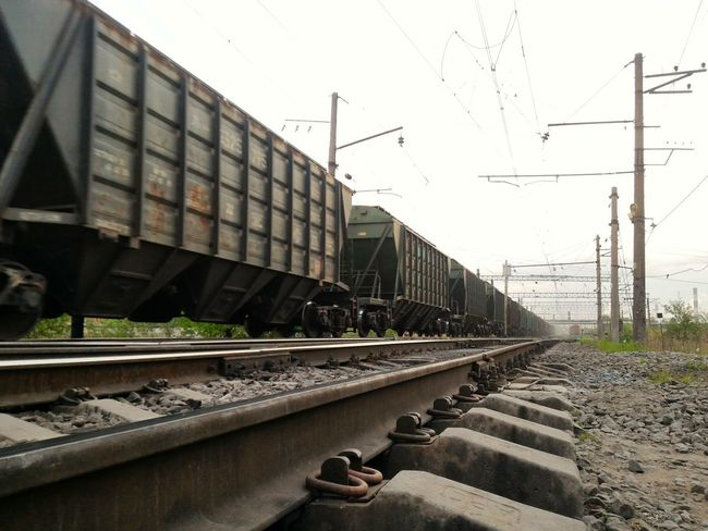 Mobilephotography Zenfone2 Railroad Rails Train Russia No People