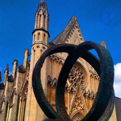Buckhingham Chapel Bristol City england clifton church abstract blue sky