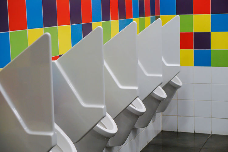 Urinal in public restroom