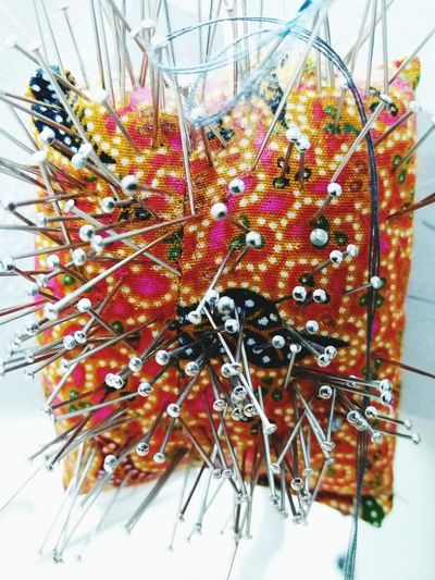 Tailoring Accessories Tailor Shop Pin Pins Needle Needles Tailor Multi Colored No People Day Close-up Indoors