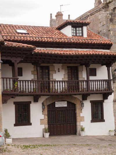 Puente San Miguel Spain Architecture Building Exterior Built Structure Catalonia Church Day Horse Medieval No People Outdoors Puente San Miguel Red Tiles Roof Sky SPAIN Stone Material Tourism Tourist Attraction  Travel Travel Destinations Village Vivid International