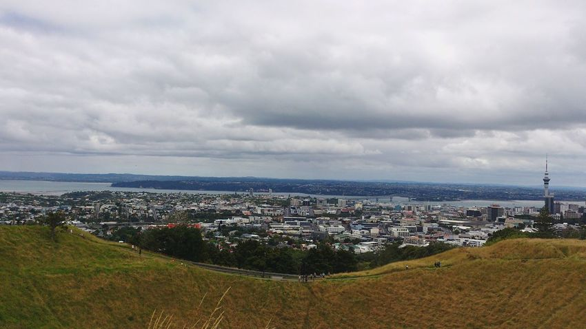 High Angle View Cityscape Cloud - Sky Outdoors Wide Shot Scenics Popular Photos Hello World Newzealand Auckland MtEden Deadvolcano Adapted To The City