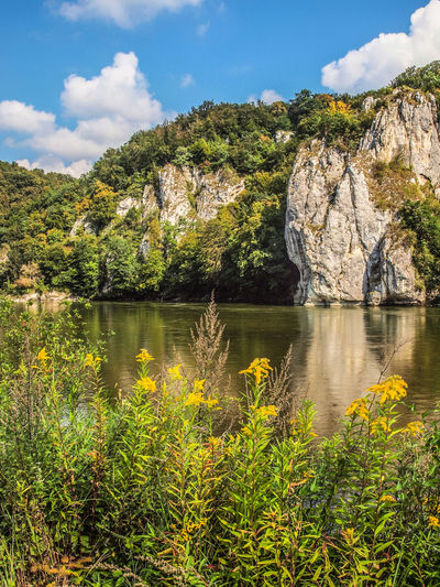 Water Sky Beauty In Nature Tranquility Tranquil Scene River Plant Nature Rock Cloud - Sky Scenics - Nature Rock Formation Mountain Day Outdoors No People Rock - Object Tree Germany Rhein