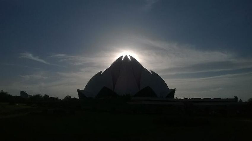Everything In Its Place Lotus Temple Nature_collection Perfect Moment Perfact Shot. Timing Is Everything Mobilephotography Mobile Photography Sunset Spritualism April Showcase