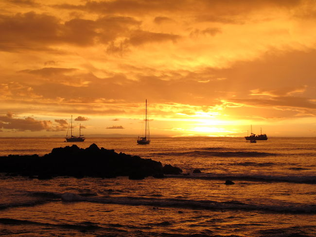 Dusk Sky Easter Island Isla De Pascua Polynesia Rapa Nui Rapa Nui National Park South Pacific Beach Beauty In Nature Cloud - Sky Horizon Over Water Nature Nautical Vessel No People Outdoors Pacific Ocean Scenics Sea Silhouette Sky Sun Sunset Tranquility Water Waterfront