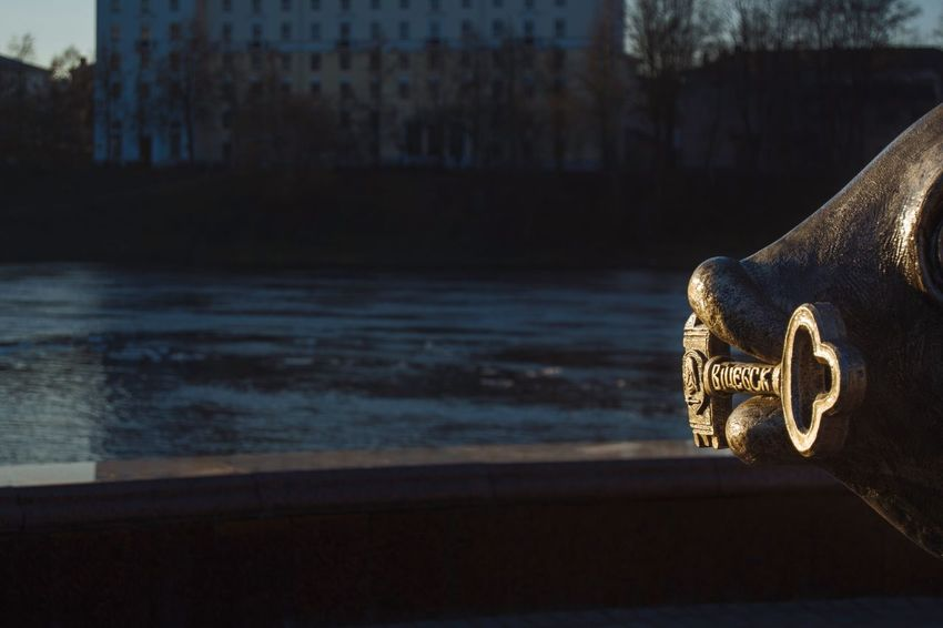 Simbol Of City Simbol Key Bronze From My Point Of View By Ivan Maximov Eyeem Photo The Week On EyeEm Landscape Cityscape Belarus City Vitebsk,Belarus Great Outdoors Composition Traveling Sunset Sunlight Bronze Statue Sculpture Light And Shadow Day Close-up Outdoors Sky