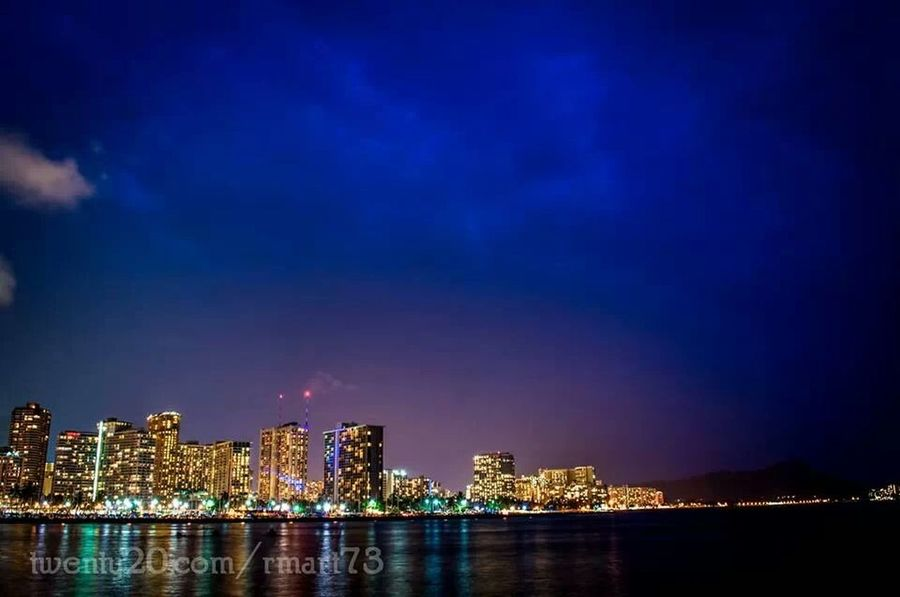 Here's Waikiki at night, I can't get enough of this skyline EyeEm Best Shots Night Lights Amazing View Cloud_collection