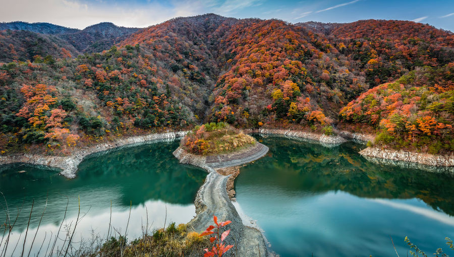 Autumn Nature in Japan Beauty In Nature Autumn Mountain Water Nature Plant Scenics - Nature Non-urban Scene Reflection Rock Tree Day Landscape Nature Lake Colors