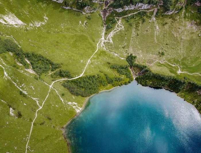 Drone  Aerial View Beauty In Nature Day Green Color Landscape Mountain Mountain Lake Nature No People Outdoors Scenics Tree Water