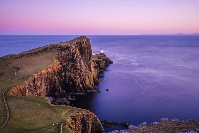 Neist point - one of the main attractions when you are on the isle of Skye in Scotland. Probably a bit too touristic for me, but it's very beautiful nevertheless. Check This Out Enjoying Life Enjoying Nature Landscapes EyeEm Nature Lover The Great Outdoors - 2015 EyeEm Awards Open Edit Beautiful Nature From My Point Of View The Adventure Handbook Exploring Ocean View Lighthouse Cliffs Neist Point Skye Scotland Landscapes With WhiteWall The Great Outdoors With Adobe