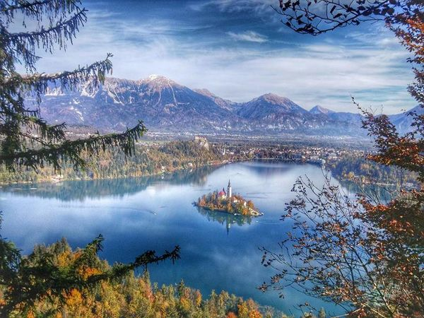 Water Tranquil Scene Scenics Mountain Tranquility Lake Non-urban Scene Mountain Range Beauty In Nature Majestic Sky Travel Destinations Tree Tourism Idyllic Blue Physical Geography Cloud - Sky Nature Calm Bled Castle Bled, Slovenia The Week On Eyem EyeEm Best Shots Bled Lake Slovenia
