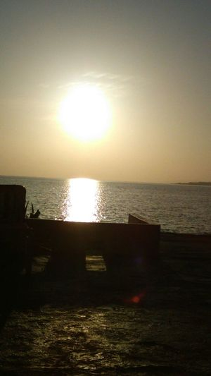Summer2015 Enjoying the early morning view of the sun. Hunny Bay Resorts Jamaican Sunrise