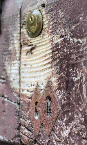 Antique Antique Door Brown Close-up Datails Door Key Lock Old Wood Door Selective Focus