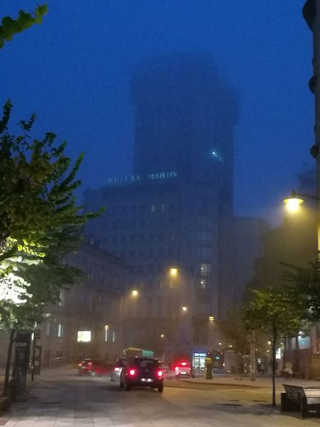 It's foggy! Night City Streetphotography Street Photography Building Exterior Reflection City Street Built Structure Huawei P 9