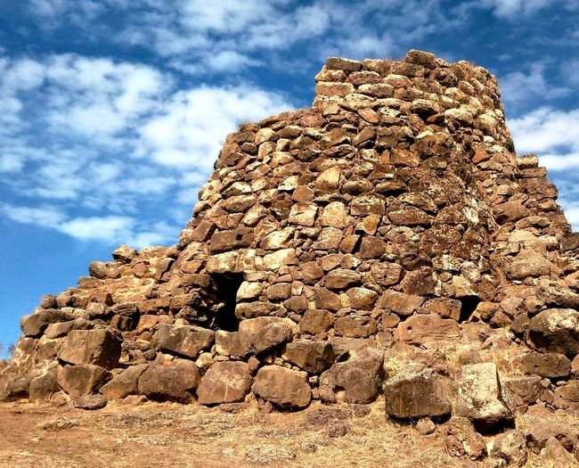 Nuraghe Nuragheorgono Ghilarza Sardinia Cloud - Sky Low Angle View Sky Day Outdoors No People Rock - Object Nature Sunlight Close-up