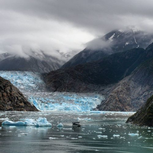 How long does it take for nature to render even the biggest manmade items insignificant in size? Travel Vacation Nature Sky glacier icecap cruise privatecruise cruiseship skylovers skypainters mothernature ladd00 scenery wilderness alaska ak explorealaska travelalaska
