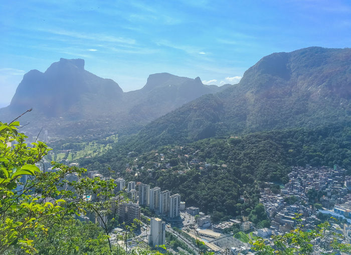RIo Mountain Plant Sky Nature Architecture Beauty In Nature Mountain Range Built Structure Day No People Tree Scenics - Nature Building Exterior Tranquil Scene Landscape Outdoors Tranquility Growth City Environment