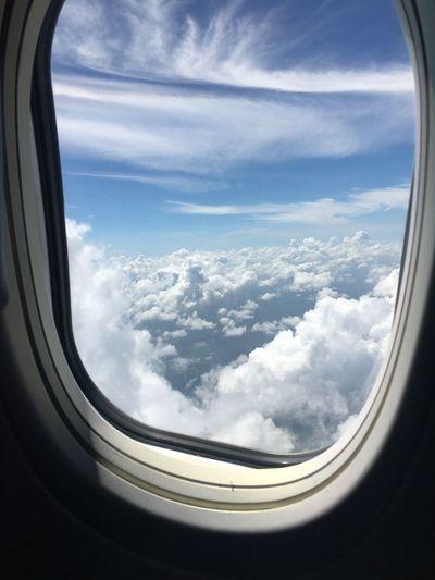 Plane Cloud Sky Window Window Of Plane