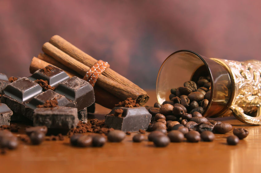 Chocolate Chocolates Chocolate♡ Coffee Dessert Desserts Rustic Addiction Brown Cinnamon Close-up Cocoa Coffee Bean Coffee Beans Delicious Food Food And Drink Ingredient Roasted Roasted Coffee Bean Rustic Style Table Wooden