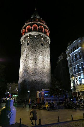 Galata Galatatower Istanbul City Istanbul Turkey Streetphotography Summer Nightphotography Istanbulcity