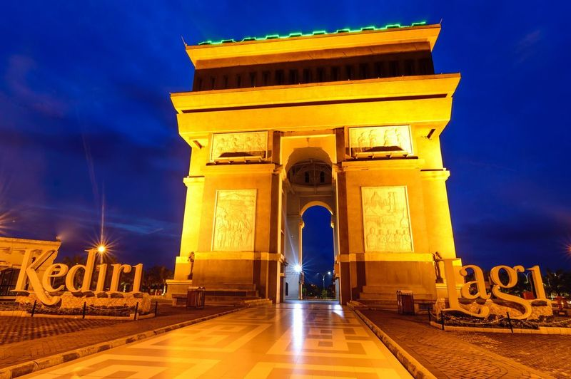 Paris Van Java Icon Landscape Architecture Night Built Structure Illuminated Sky Triumphal Arch History Arch Travel Destinations City No People Outdoors Shades Of Winter An Eye For Travel