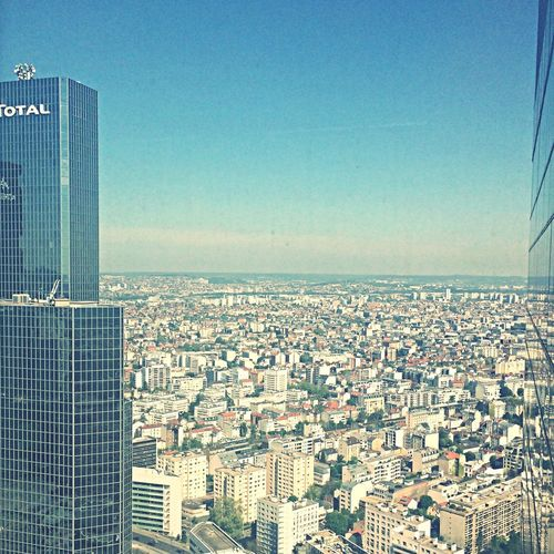 Amazing Enjoying The View Paris La Defense Building Meeting