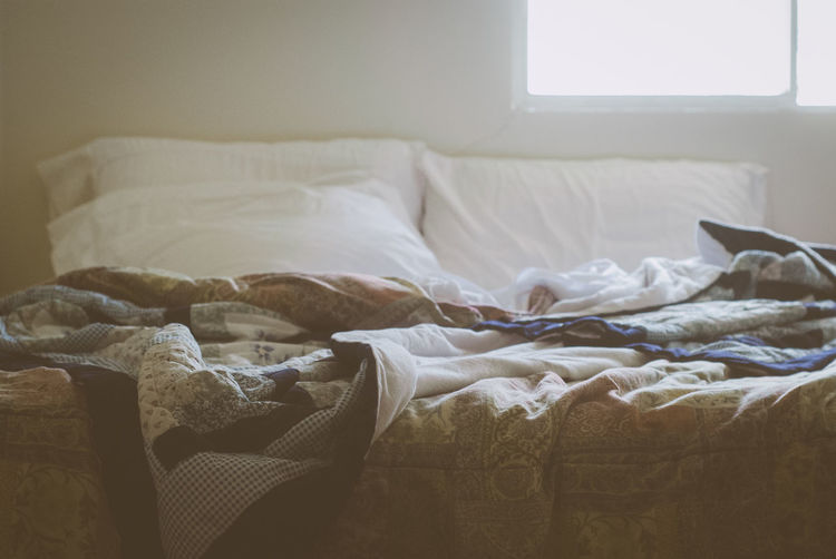 Bed Bedroom Day Domestic Life Home Interior Indoors  No People Pillow Unmade Bed Always Be Cozy The Bed Is Unmade Like Everything Is Morning Rituals Country Life Domestic Room Morning Rural Poetry