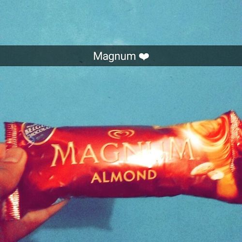 Magnum Almond Magnumalmond Belgianchocolate Kwalitywalls Love Sotasty Snapchat ❤💞