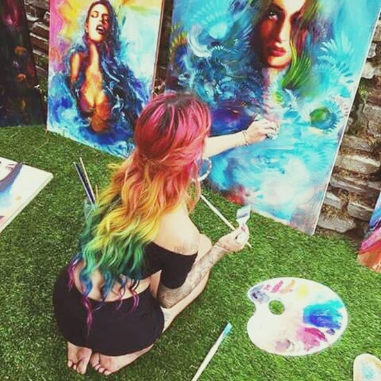 💖 Summer ☀ Fashion&love&beauty Long Hair Fantastic ♥ Lovepassion Arcoiris Cabeloperfeito Cabeloscacheados Lindodemais Artandlove 💖