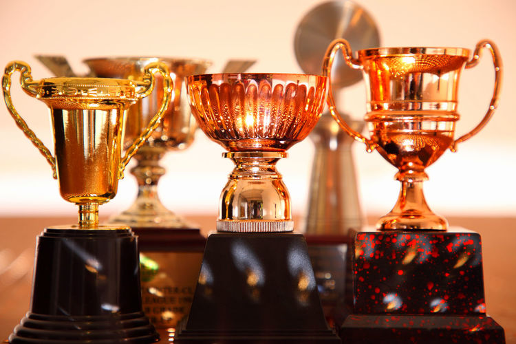 trophy on the board with holes AWARD Achievement Celebration Champion Contest First Gold Golden Shinny Trophy Winning Best  Ceremony Competition Cup Group Of Objects Leadership Metallic No People Object Pride Prize Success Victory Winner