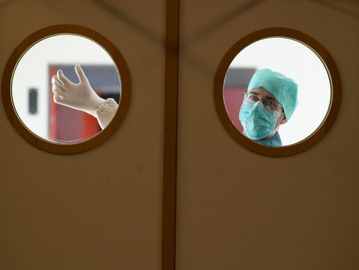 Doctor Preparing To Medical Procedure