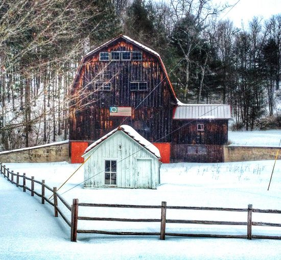 Eye4photography  Nature Drivebyphotography Countryside Winter Wonderland Barn