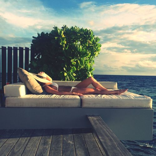 Relaxing in paradise Holiday Relaxing Sun Sunbed Afternoonnap Photography