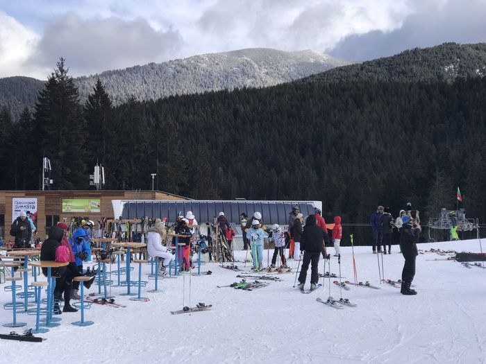 Bansko Banskoskicenter Cold Temperature Winter Snow Large Group Of People Real People Leisure Activity Tree Women Lifestyles Men Outdoors Winter Sport Vacations Mountain People Nature Adult Day Ski Holiday Snowboarding Bulgaria