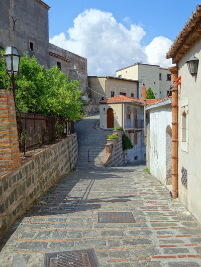 Street Savoca Messina Sicily Italy Residential Building House Door Sky Architecture Building Exterior Built Structure