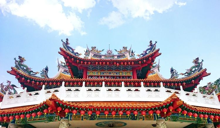 One of the oldest and largest temples in Southeast Asia Buddhist Temple Kuala Lumpur Thean Hou Temple (天后宫) Southeastasia Landmark Chinese Ornament