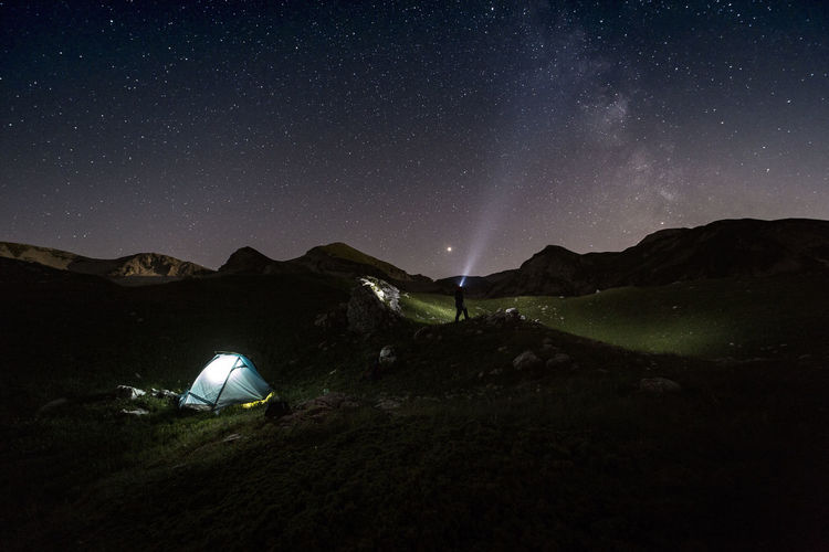 Camping Hiking Night Photography Nightphotography Trekking Beauty In Nature Campinglife Hiking Adventures Landscape Milky Way Mountain Mountain Peak Mountain_collection Mountains And Sky Nature Nightscape Outdoors Scenics - Nature Sky Star Star - Space Stars Sunset Tent Tranquility Capture Tomorrow
