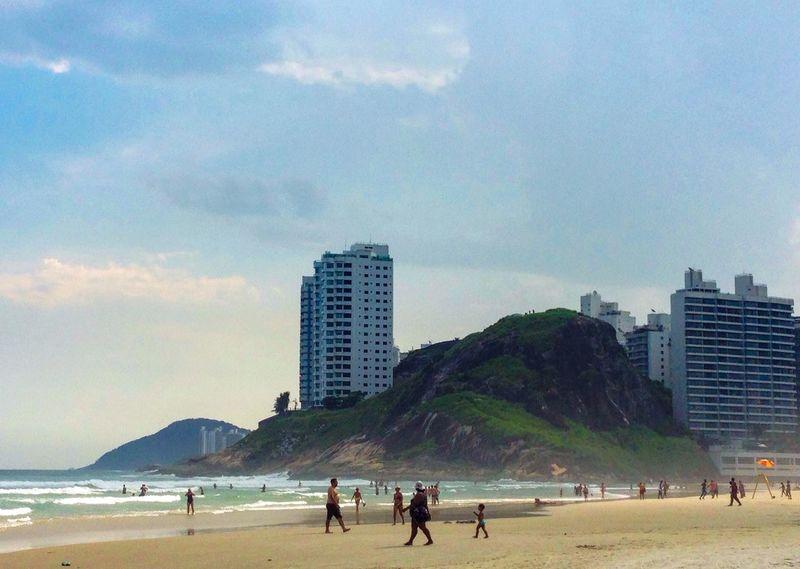 Guarujá brazil Found On The Roll Guarujá Brazil Beach Sky Sunlight Fun People Vacations The Essence Of Summer