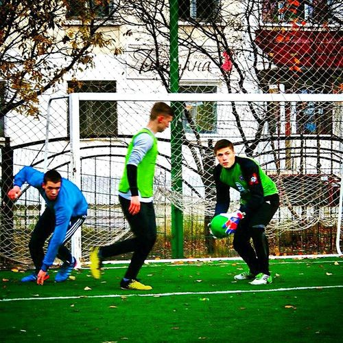 Soccer Player Playing Goal Sport Green Color Sports Clothing Soccer Sportsman