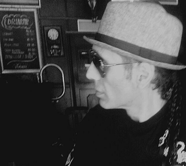 B&W Portrait Man In Black Man In Hat Male Black And White Photography Black And White Portrait Man In A Bar Faces Of EyeEm