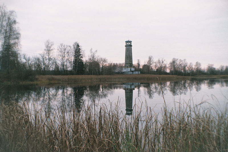 Analogue Photography Colors Film Lighthouse Reflection Architecture Color Negative Cozy Day Film Photography Filmcamera Filmphotography Fujifilm Fujifilm C200 Grass Nature Nature_collection Outdoors Vilia Water