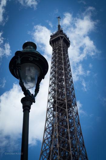 Eiffel tower Paris Eiffel Tower Tour Eiffel Blue Sky Lamp Lampadaire Lampe