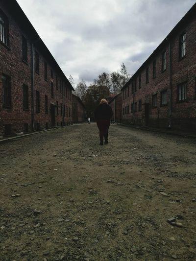 Darkclouds Auschwitz  Bad Weather BadMood Walk Buildings Workcamp