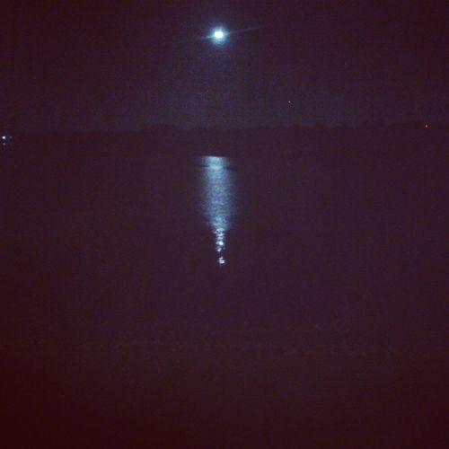Night Out NH4 Belgaum  Hubli Highyway Lake Moon Together Instanight Beautiful View
