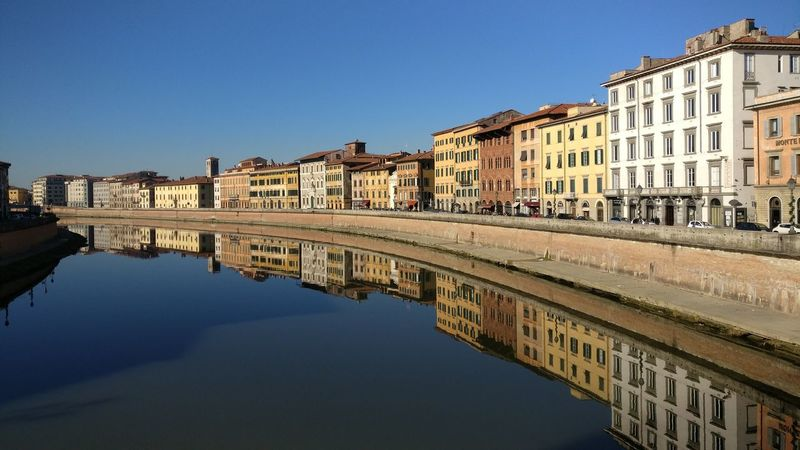 Reflection Water Building Exterior Architecture Outdoors City Sky Day Human Eye Pisa Pisa - Italy River View Arno River Riverscape Upside Down Upside Down Photography Upsidedown Having Fun! Upside UpsideDownShot River Collection Clouds And Sky Cloud - Sky No People Color Sunlight Been There.
